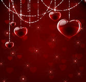 Pretty background with hearts Royalty Free Stock Images
