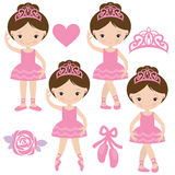 Pretty ballerina vector illustration Stock Images