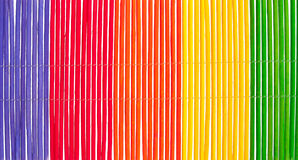 Pretty bamboo rainbow stripes Royalty Free Stock Photos