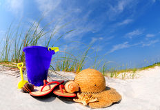 Pretty beach accessories Stock Images