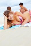 Pretty beach girl Stock Image
