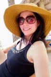 Pretty beach woman Stock Photos