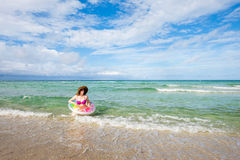 Pretty beach woman Stock Photography