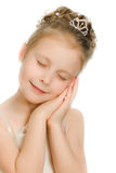 Pretty beautiful girl dreaming with closed eyes Royalty Free Stock Photography