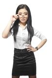 Pretty beautiful sexy Asian businesswoman Royalty Free Stock Photos
