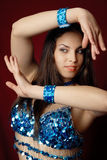 Pretty belly dancer Stock Photo