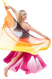 Pretty belly dancer performing Royalty Free Stock Photography