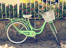 Pretty bike in the city Royalty Free Stock Photography