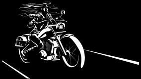 Pretty biker woman Stock Photos