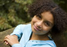 Pretty Biracial Girl #2 Royalty Free Stock Photos