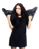 Pretty black angel Royalty Free Stock Image