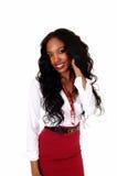 Pretty black girl. stock photos