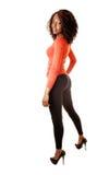 Pretty black girl standing. Stock Image