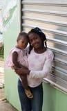 Pretty black girls. Dominican republic Stock Image