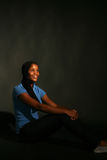 Pretty black teenage girl Royalty Free Stock Photography