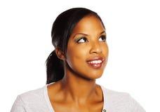 Pretty black woman Stock Photo