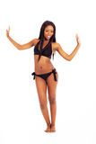 Black woman bikini Stock Photo