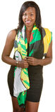 Pretty Black Woman in Scarf Stock Photography