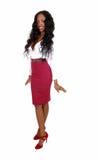 Pretty black woman standing. Stock Image