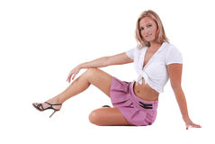 Pretty blond. Royalty Free Stock Image