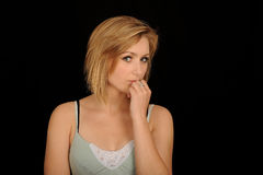 Pretty blond adolescent Stock Images