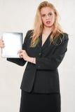 Pretty blond caucasian woman Royalty Free Stock Image