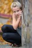Pretty blond girl Royalty Free Stock Images