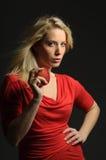Pretty blond girl Royalty Free Stock Photo