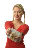 Pretty blond girl Stock Images