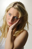 Pretty blond girl Royalty Free Stock Photos