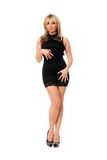 Pretty blond girl in black Royalty Free Stock Photography