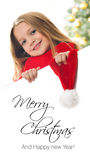 Pretty blond hair girl - Merry Christmas Royalty Free Stock Image