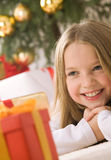 Pretty blond hair girl smiling Royalty Free Stock Photos