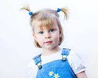 Pretty blond little gir Stock Images