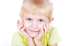 Pretty blond little girl. Stock Photo