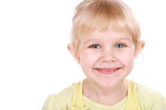 Pretty blond little girl. Stock Photography