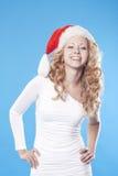 Pretty blond Santa girl Royalty Free Stock Photo