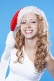 Pretty blond Santa girl Stock Photo
