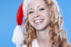 Pretty blond Santa girl Royalty Free Stock Photography
