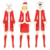 Pretty blond Santa girl in christmas costume Royalty Free Stock Photography