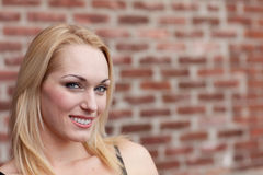 Pretty Blond Smiling Royalty Free Stock Photo