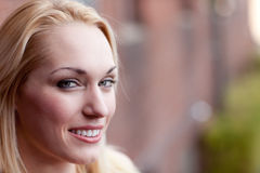 Pretty Blond Smiling Stock Photography