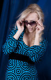 Pretty blond with sun glasses Royalty Free Stock Photography
