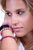 Pretty blond teen girl royalty free stock photo
