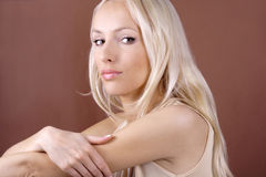 Pretty blond woman Royalty Free Stock Image