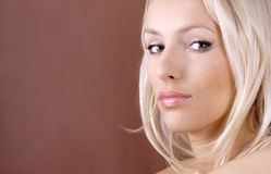 Pretty blond woman Royalty Free Stock Photography
