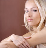 Pretty blond woman Stock Photography