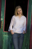 Pretty blond woman Royalty Free Stock Image