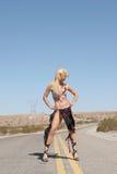 Pretty blond woman Stock Photo