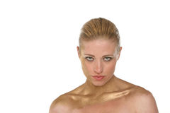 Pretty blond woman Royalty Free Stock Photo